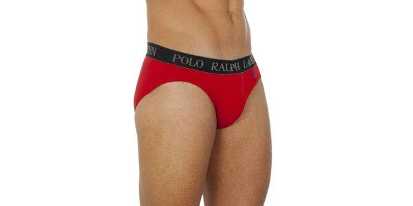 Pánske červené slipy Ralph Lauren