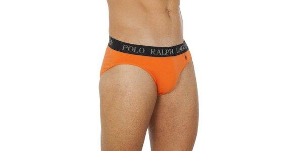 Pánske oranžové slipy Ralph Lauren