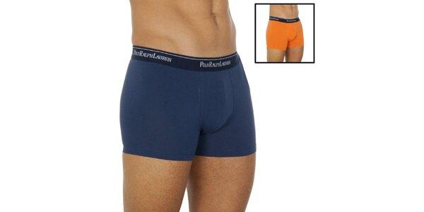 Pánsky set dvoch boxeriek - modré a oranžové Ralph Lauren