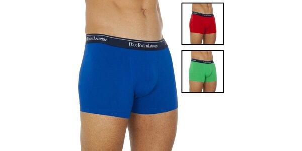Pánsky set troch boxeriek - modré, zelené, červené Ralph Lauren