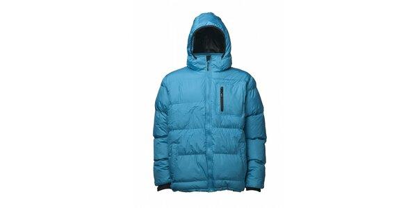 Pánska azúrovo modrá prešívaná zimná bunda Fundango