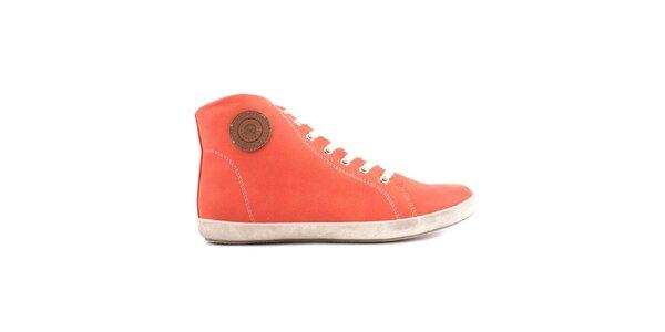 Dámske oranžové členkové tenisky Les tropeziennes