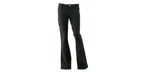 Dámske čierne džínsy Fundango so zvonami