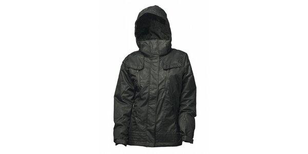 Dámska čierna bunda Fundango s potlačou