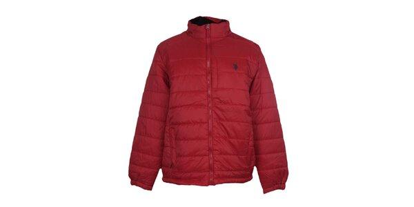 Pánska prešívaná červená bunda U.S. Polo