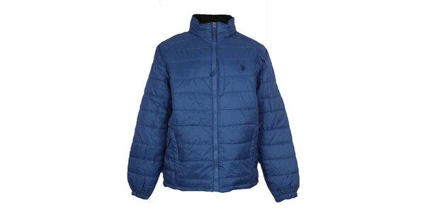 Pánska prešívaná blankytno modrá bunda U.S. Polo