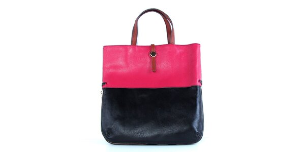 Dámska kožená modro-ružová kabelka Belle & Bloom