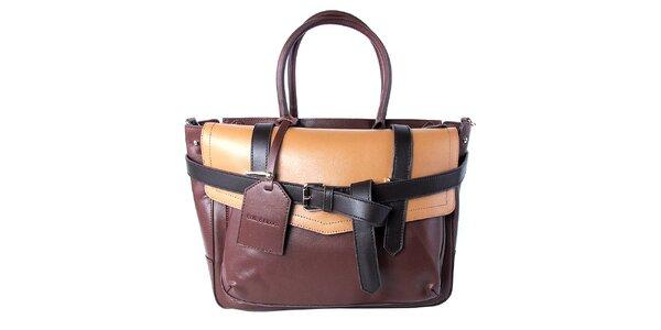 Dámska hnedá kabelka s vynímateľnou vnútornou taštičkou Belle & Bloom