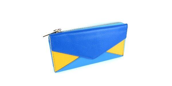 Dámska modrožltá peňaženka Belle & Bloom