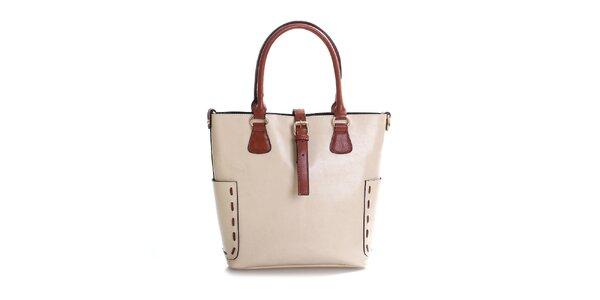 Dámska béžová kabelka z pravej kože Belle & Bloom