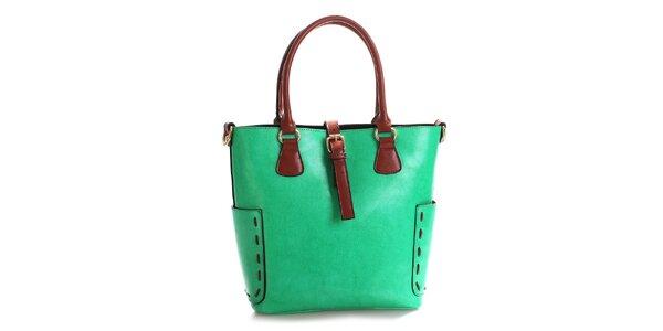 Dámska zelená kabelka z pravej kože Belle & Bloom