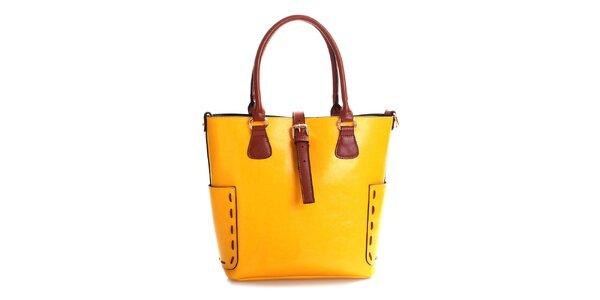 Dámska horčicová kabelka z pravej kože Belle & Bloom