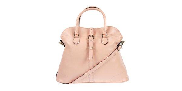 Dámska kožená kabelka vo svetlo ružovom odtieni Belle & Bloom
