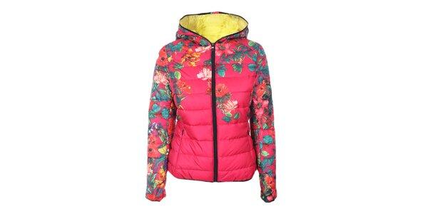 Dámska ružová kvetovaná bunda Monte Vero