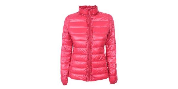 Dámska ružová prešívaná bunda DJ85°C