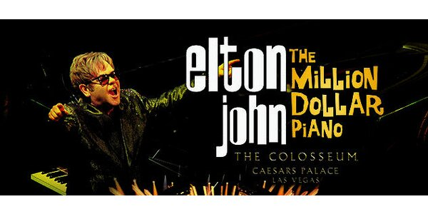 ELTON JOHN v LAS VEGAS - 19.3. o 19.00 záznam koncertu v kine Záhoran Malacky