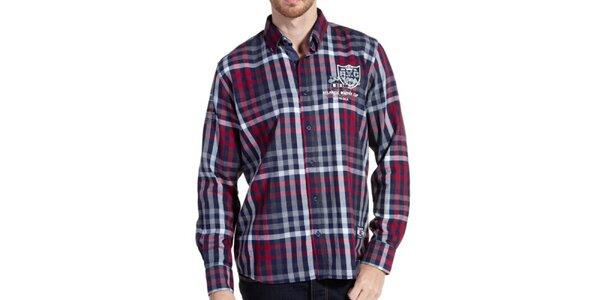 Pánska farebne kockovaná košeľa s dlhým rukávom Galvanni