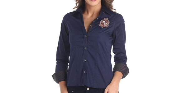 Dámska modrá športová košeľa Galvanni