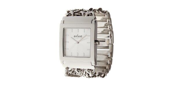 Dámske strieborné náramkové hodinky Axcent s ozdobným remienkom