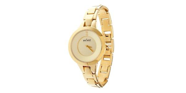 Dámske zlaté ocelové hodinky Axcent