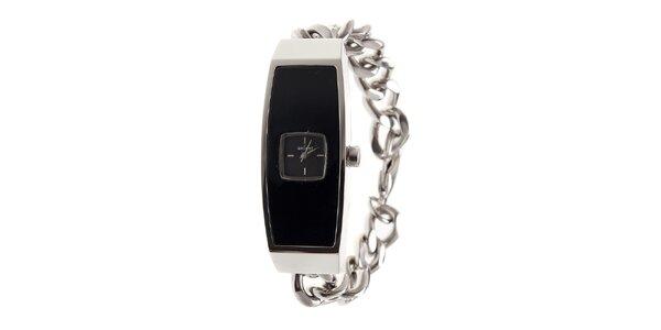 Dámske ocelové hodinky Axcent s čiernym ciferníkom