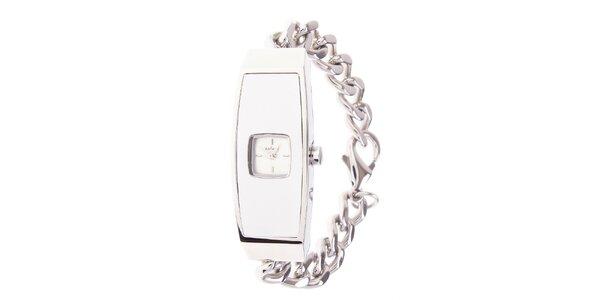 Dámske ocelové hodinky Axcent s bielym ciferníkom