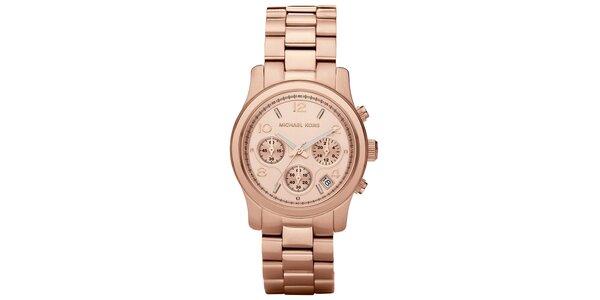 Dámske hodinky z ušľachtilej ocele vo farbe ružového zlata Michael Kors