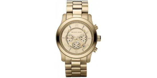 Dámske analogové hodinky z pozlátenej nerezovej ocele Michael Kors