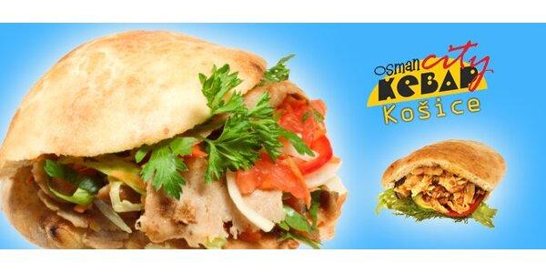 1,30 Eur za Kebab Döner so zľavou 50%.