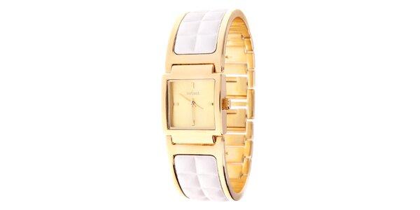 Dámske zlaté náramkové hodinky Axcent s kombinovaným remienkom