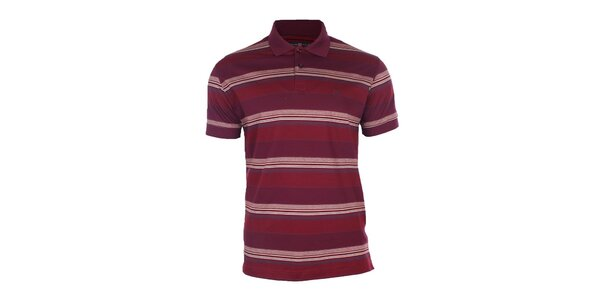 Pánske červené pruhované polo tričko Pietro Filipi