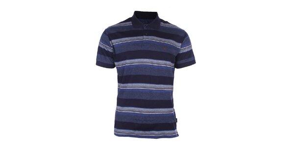 Pánske modré pruhované polo tričko Pietro Filipi