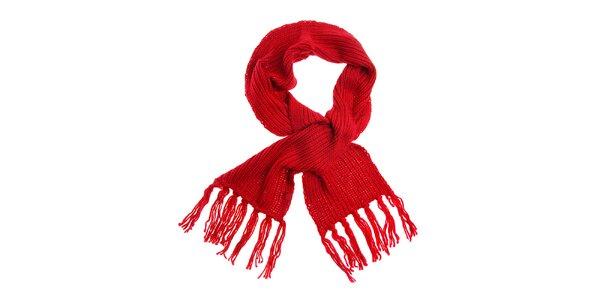Dámska červená pletená šála Loap