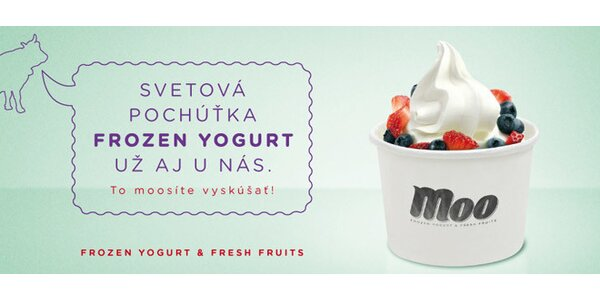 Mrazený jogurt s čerstvým ovocím