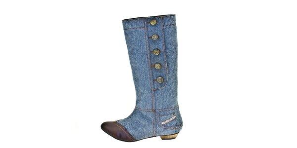 Dámske svetlo modré džínsové čižmy Bitter Sweet