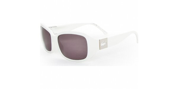 Dámske biele slnečné okuliare Lacoste