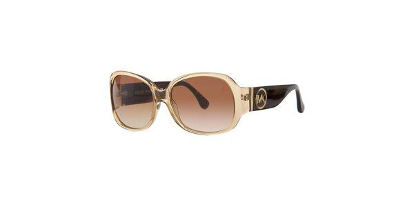 7b0c72331 Dámske zlato-hnedé slnečné okuliare Michael Kors