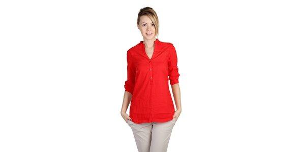 Dámska červená košeľa s farebným chrbtom Bonavita
