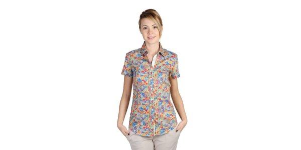 Dámska pestrofarebná kvetinová košeľa Bonavita