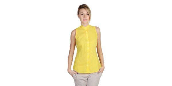 Dámska žltá košeľa bez rukávov Bonavita