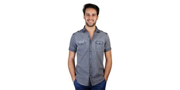 Pánska modrá košeľa s vreckami Bonavita