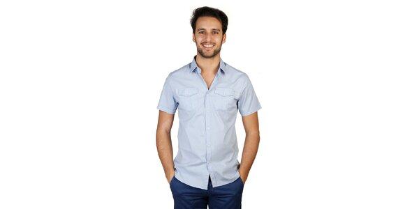 Pánska svetlo modrá košeľa s krátkym rukávom Bonavita