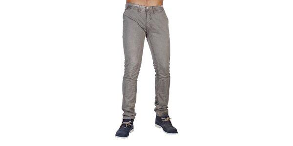 Pánske šedé džínsové nohavice Bonavita