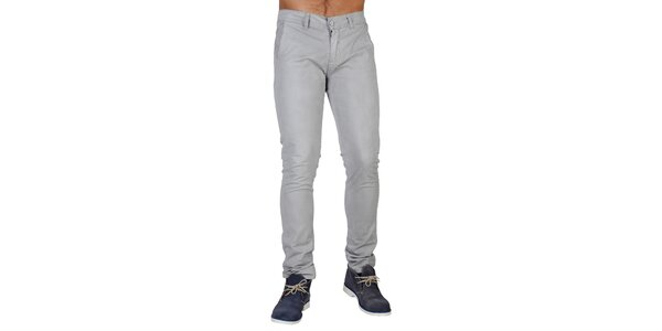 Pánske šedé nohavice Bonavita