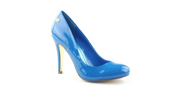 Dámske lesklé modré lodičky Blink