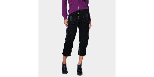Dámske čierne trojštvrťové kapsáče ODM Fashion