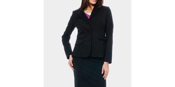 Dámske čierne sako ODM Fashion