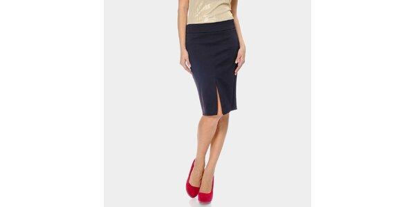 Dámska čierna púzdrová sukňa ODM Fashion