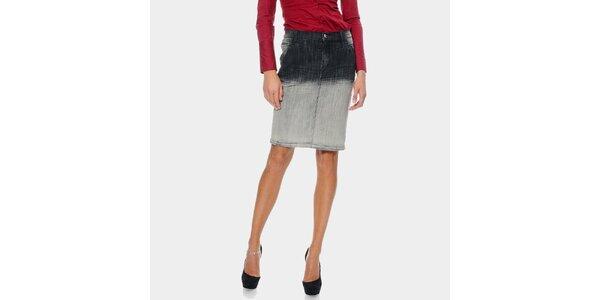 Dámska ombré džínsová sukňa ODM Fashion