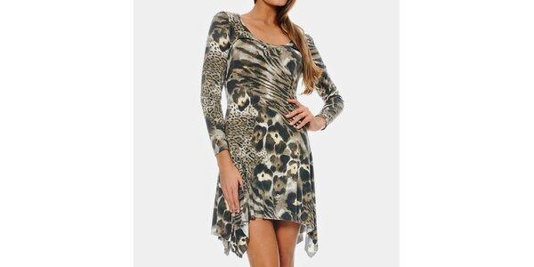 Dámske šaty so zvieracím vzorom ODM Fashion